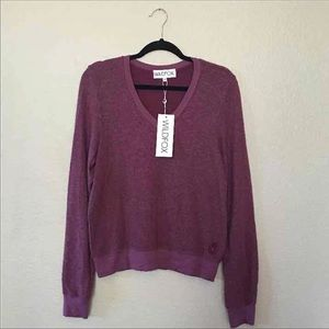 Wild fox XS Burgundy V Neck Jumper